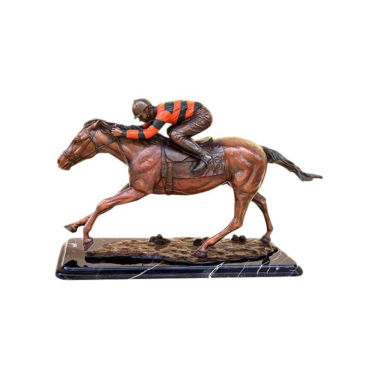 "Henri Studio Jockey on Horse 10"" High Tabletop"