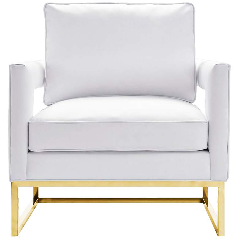 Avery White Upholstered Bonded Leather Armchair