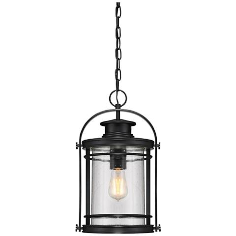 "Quoizel Booker 17 3/4""H Mystic Black Outdoor Hanging Light"