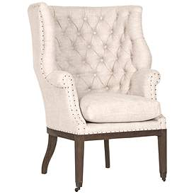 Essentials Chalet Bisque French Linen Club Chair