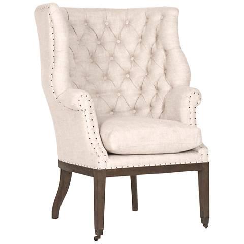 Essentials Chalet Bisque French Linen Club Chair