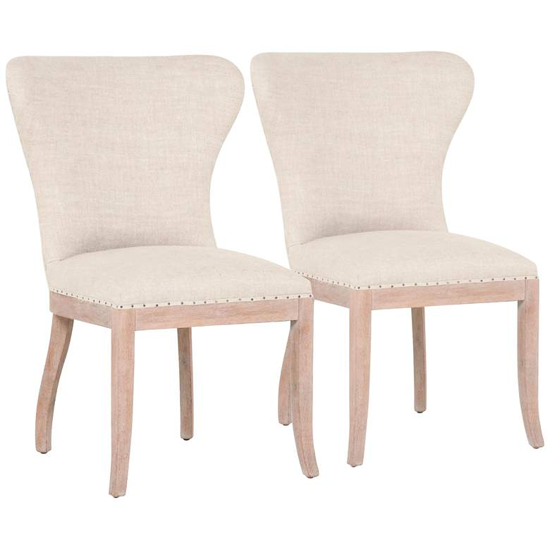 Essentials Welles Stone Wash Oak Dining Chair Set of 2
