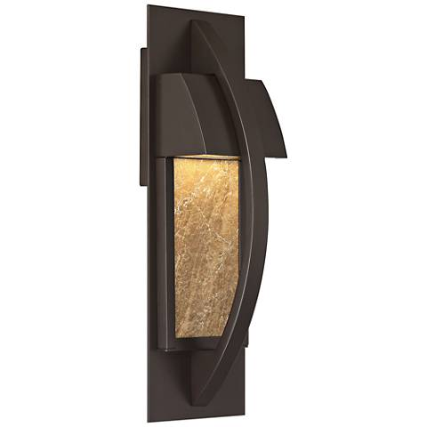 """Monument 14"""" High Western Bronze LED Outdoor Wall Light"""