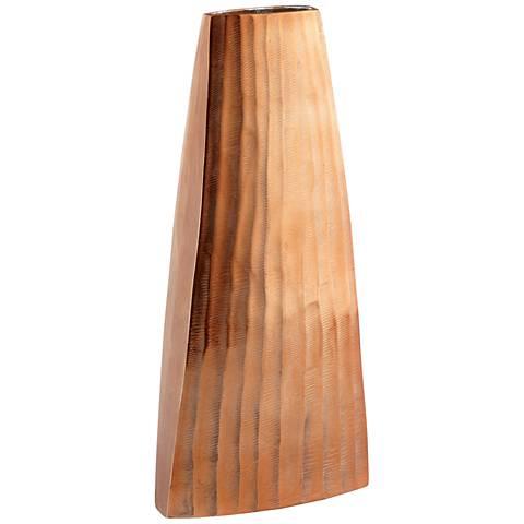 "Galeras Copper 15"" High Decorative Vase"