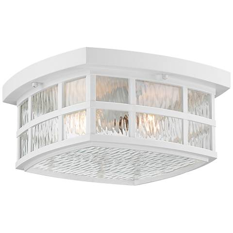 "Quoizel Stonington 12"" Wide Fresco Outdoor Ceiling Light"