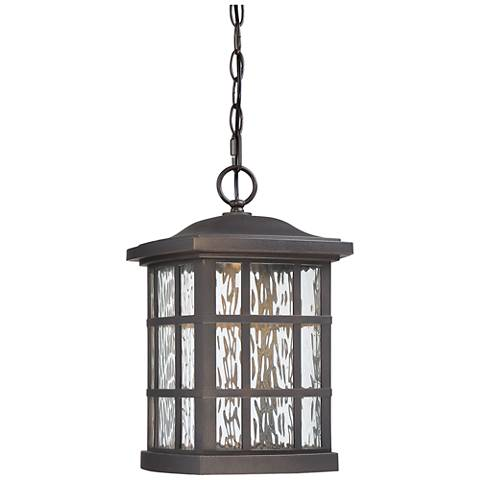 "Stonington 15""H Bronze LED Outdoor Hanging Light"
