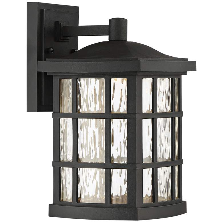 "Stonington 13"" High Mystic Black LED Outdoor Wall Light"