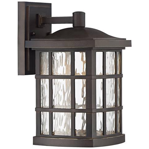 "Stonington 13"" H Palladian Bronze LED Outdoor Wall Light"