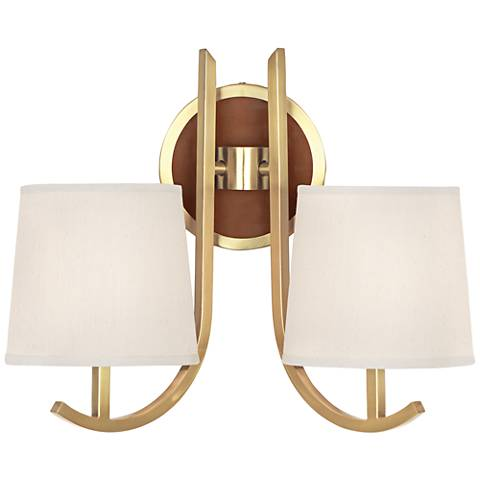 Francesco Antique Brass 2 Light Wall Sconce by Robert Abbey