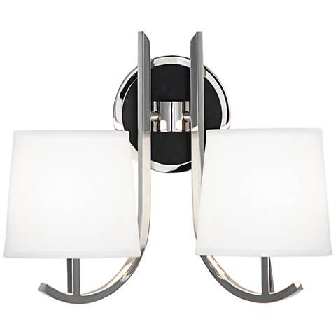 Robert Abbey Francesco Nickel 2-Light Plug-In Wall Sconce