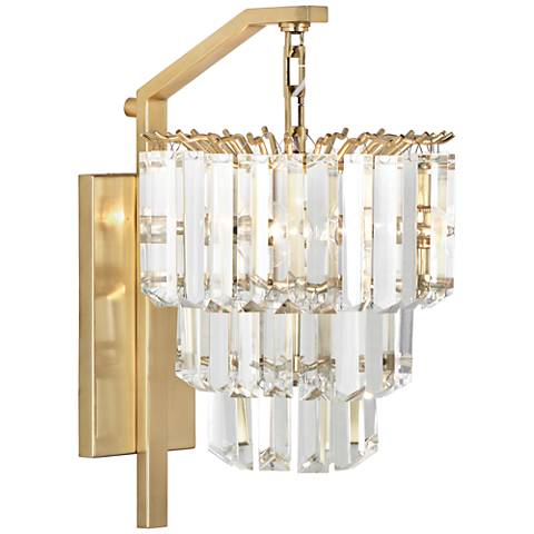 "Robert Abbey Spectrum 16 1/2""H Brass Plug-In Wall Sconce"