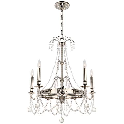 "Crystorama Harlow 27 1/2"" Wide Polished Nickel Chandelier"