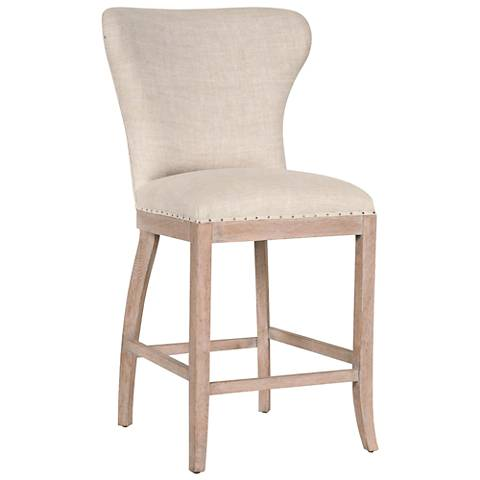 """Essentials Welles 26"""" Bisque French Linen Counter Stool"""