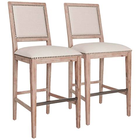 """Traditions Dexter 30"""" Stone Wash Barstool Set of 2"""