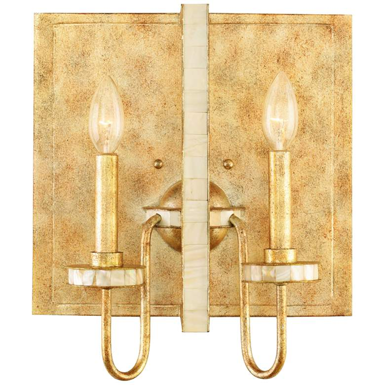 "LaSalle 14"" High Ancient Honey Gold 2-Light Wall Sconce"