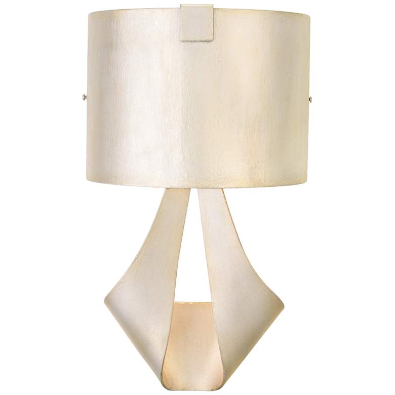 """Barrymore 18 1/4""""H Metal Shade Pearl Silver Wall Sconce"""