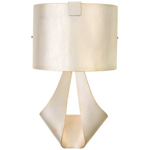 "Barrymore 18 1/4""H Metal Shade Pearl Silver Wall Sconce"