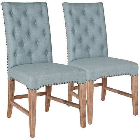 Traditions Wilshire Oasis Fabric Dining Chair Set of 2