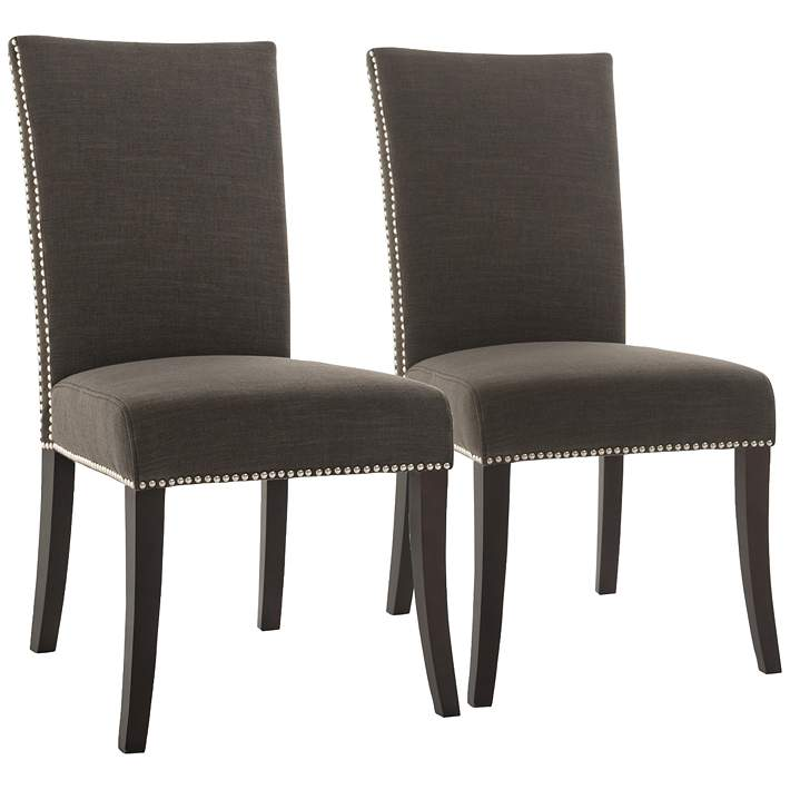 Villa Soho Sepia Fabric Dining Chair Set Of 2