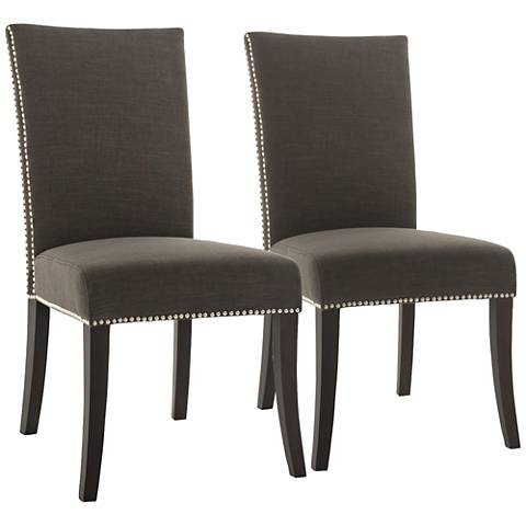 Villa Soho Sepia Fabric Dining Chair Set of 2