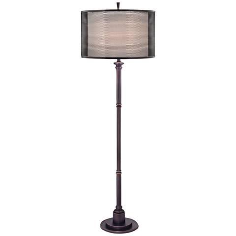Stiffel Oxidized Bronze Industrial Metal Floor Lamp