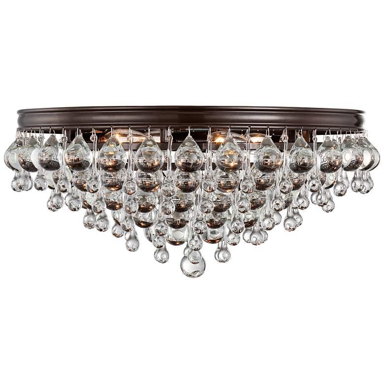 """Crystorama Calypso 20""""W Glass Balls Bronze Ceiling Light"""