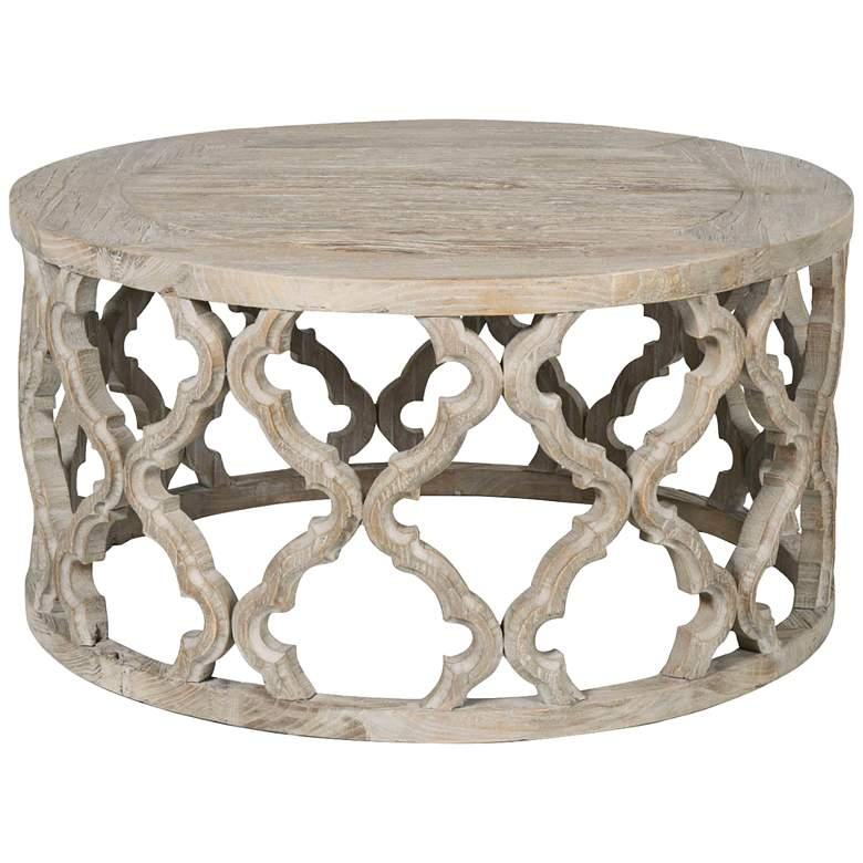 "Bella 30 1/2"" Wide Reclaimed Wood Coffee Table"