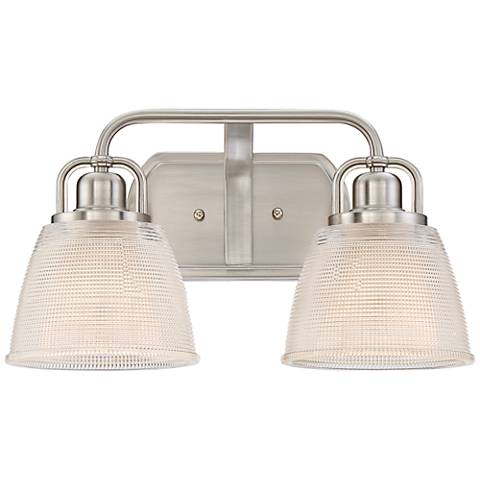 """Quoizel Dublin 15 3/4"""" Wide Brushed Nickel Wall Sconce"""
