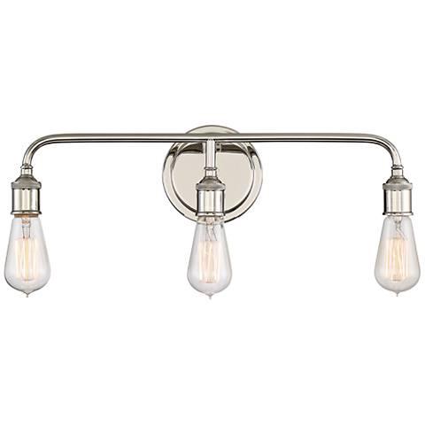"Quoizel Menlo 21"" Wide Imperial Silver Bath Light"
