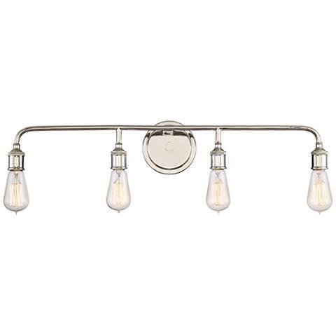"Quoizel Menlo 30 1/2"" Wide Imperial Silver Bath Light"