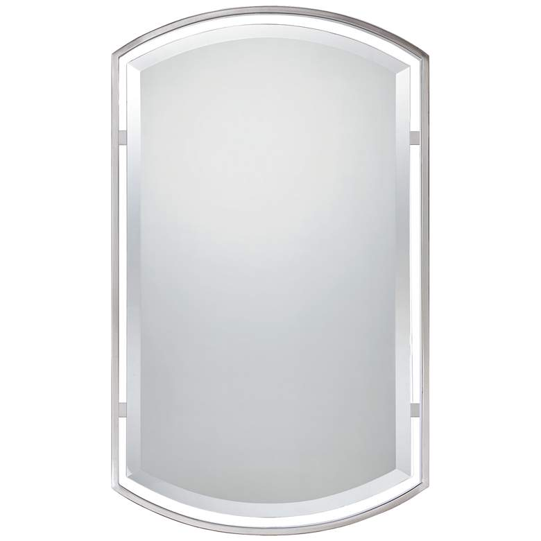 "Quoizel Breckenridge Brushed Nickel 21"" x 35"" Wall Mirror"