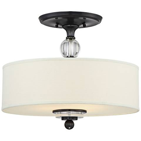 "Quoizel Downtown 17"" Wide Dusk Bronze Ceiling Light"