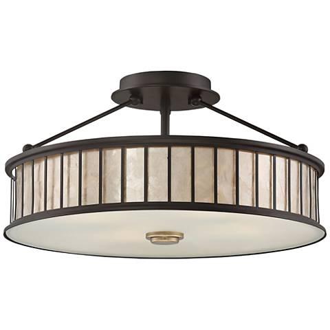 "Quoizel Belfair 17"" Wide Western Bronze Ceiling Light"