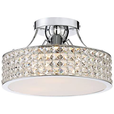 "Platinum Collection Alexa 14""W Polished Chrome Ceiling Light"