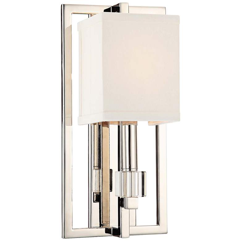 "Crystorama Dixon 15""H Polished Nickel 1-Light Wall Sconce"