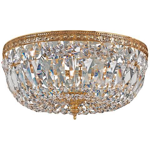 "Crystorama Big Basket Crystal 12""W Brass Ceiling Light"