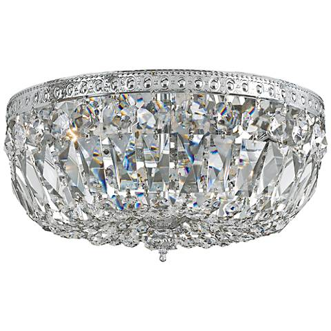 "Crystorama Big Basket Crystal 12""W Chrome Ceiling Light"