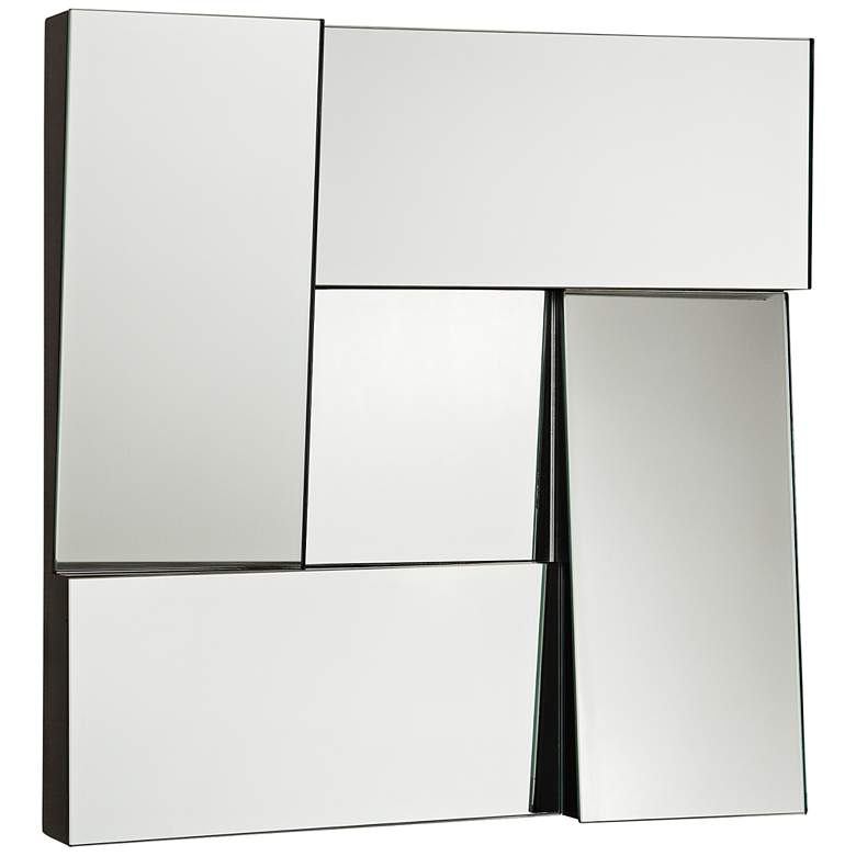 """New Angle Black 17"""" Square Dimensional Modern Wall"""