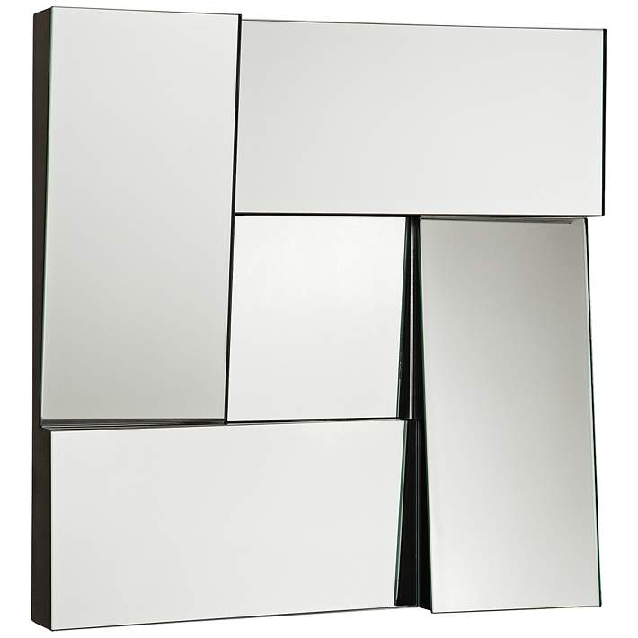 New Angle Black 17 Square Dimensional Modern Wall Mirror 1p953 Lamps Plus