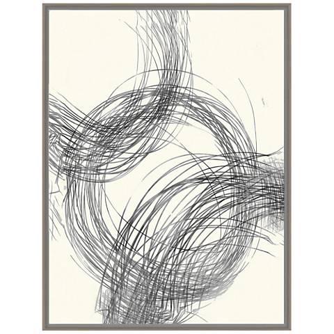"Circle Lines I 41 3/4""H Abstract Framed Canvas Wall Art"