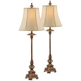 Juliette Light Bronze Buffet Table Lamp Set Of 2