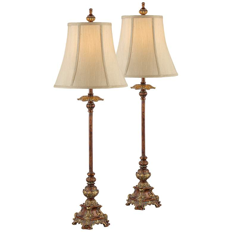 Lamps Lus: Juliette Light Bronze Buffet Table Lamp Set Of 2