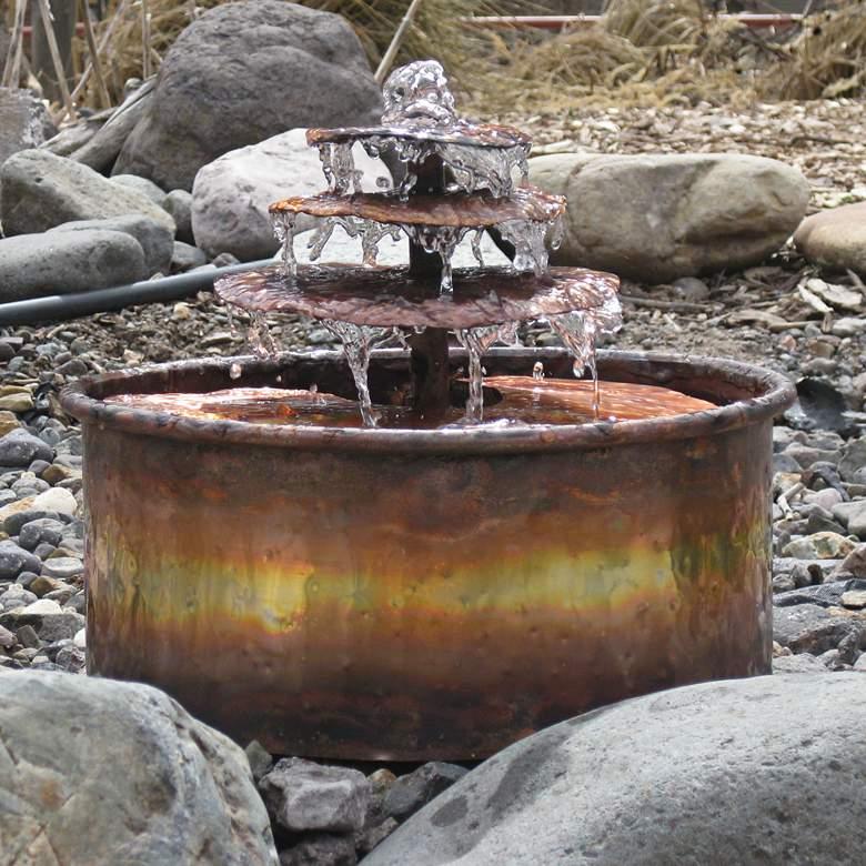 """Raintree 9"""" High Indoor/Outdoor Copper Tabletop Fountain"""