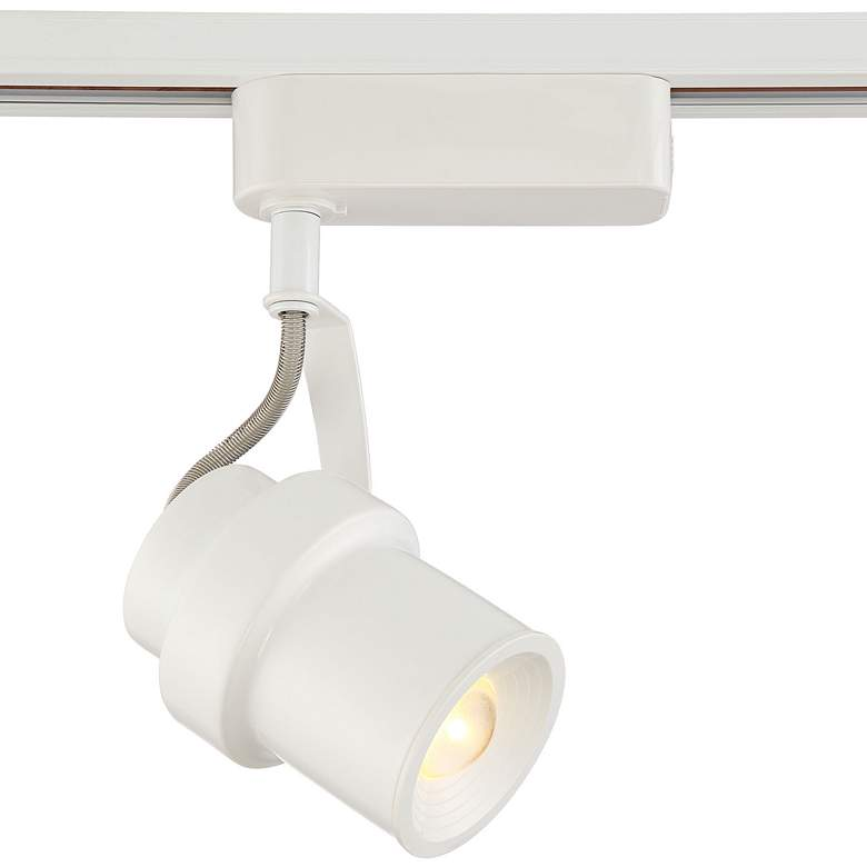 White Cylinder LED Track Head for Halo Single-Circuit