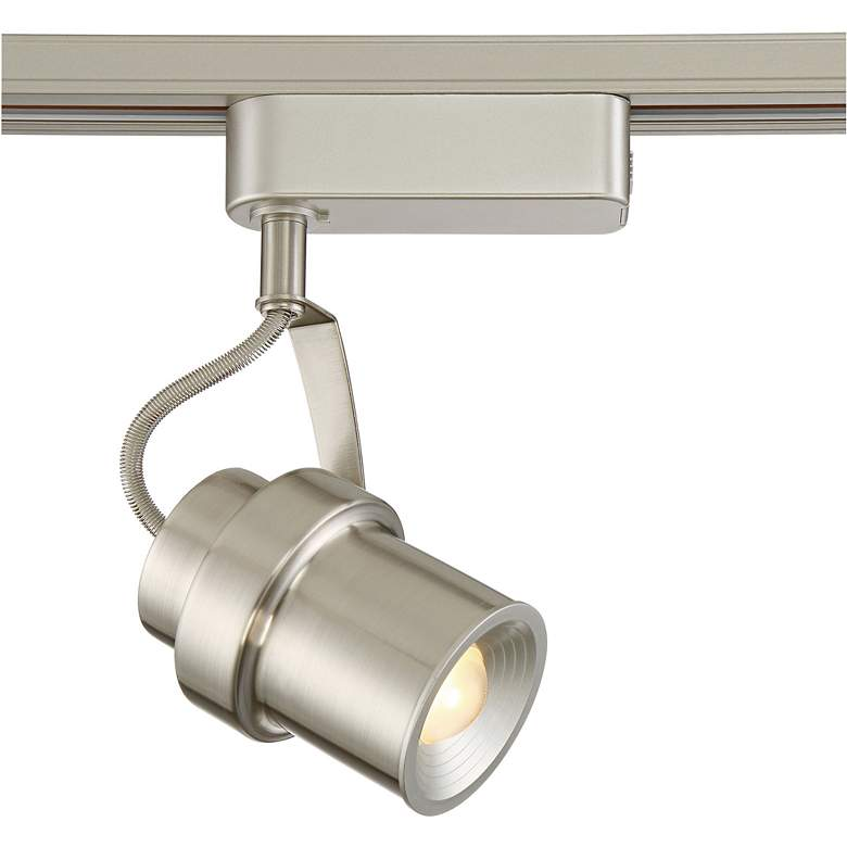 Silver Cylinder LED Track Head for Halo Single-Circuit