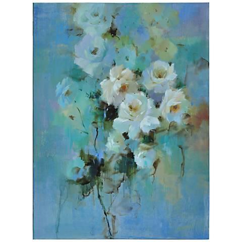"""Crestview Villa Blanca 48"""" High Hand-Painted Wall Art"""