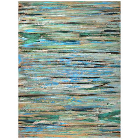 """Crestview Collection Zone I 80"""" High Hand-Painted Wall Art"""
