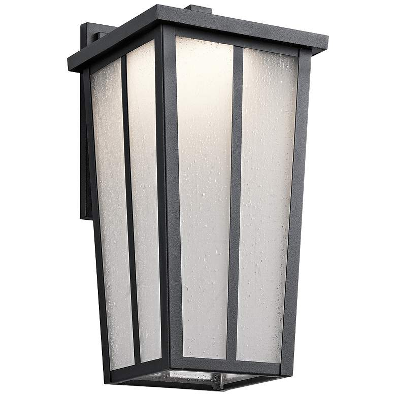 "Kichler Amber Valley 15""H LED Black Outdoor Wall"
