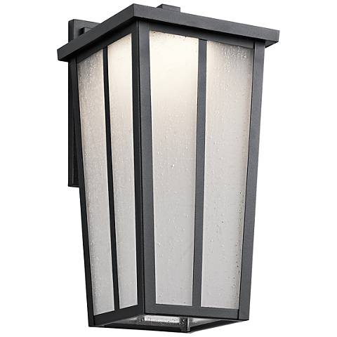 "Kichler Amber Valley 15""H LED Black Outdoor Wall Light"