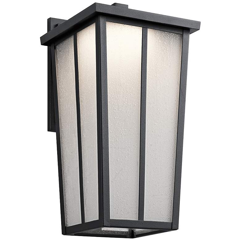 """Amber Valley 17 1/4"""" High LED Black Outdoor Wall Light"""